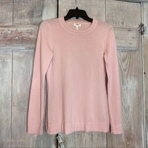 Lands End Cashmere Pink Sweater Size Small